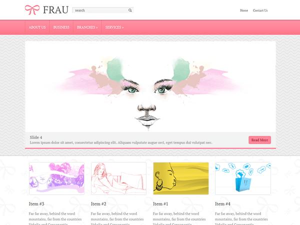 Frau free wordpress theme