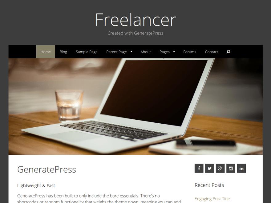 Freelancer free wordpress theme