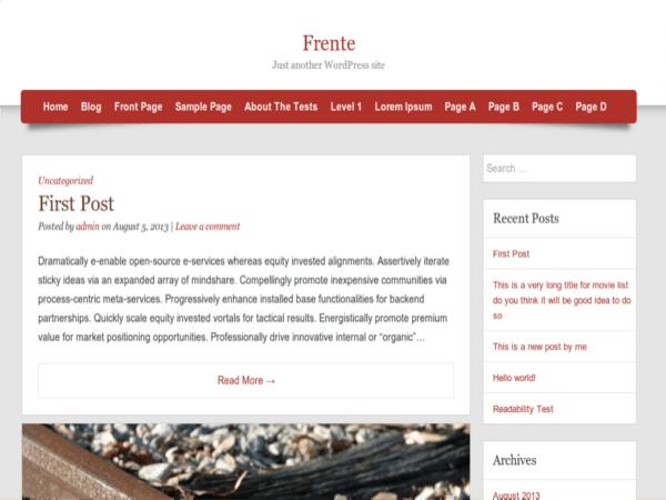 Frente free wordpress theme
