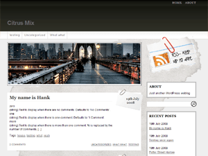 Fresh Editorial free wordpress theme