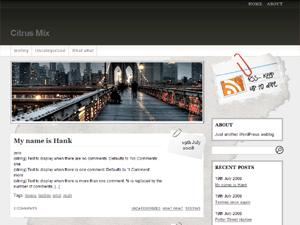 Fresh Editorial wordpress theme