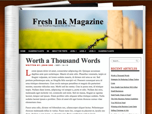 Fresh Ink Magazine wordpress theme