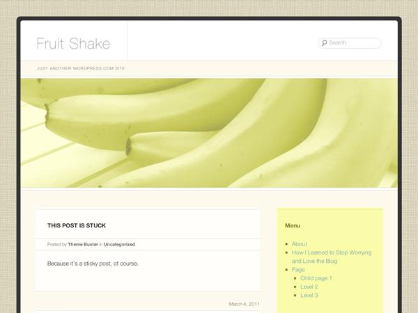 Fruit Shake free wordpress theme