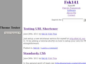 Fsk141 Framework free wordpress theme
