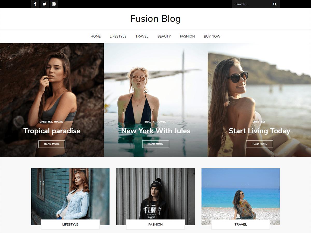 WordPress主题:Fusion Blog