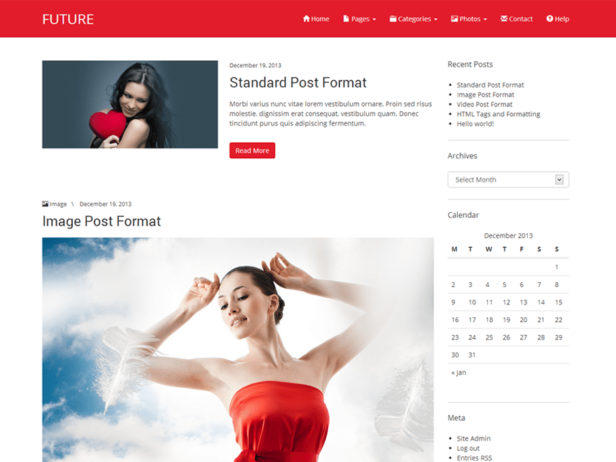 Future free wordpress theme