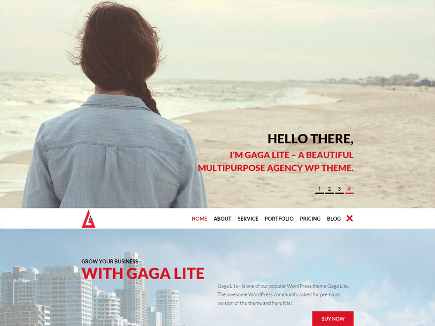 Gaga Lite free wordpress theme