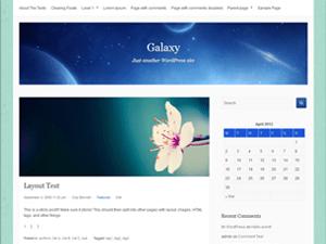 Galaxy free wordpress theme
