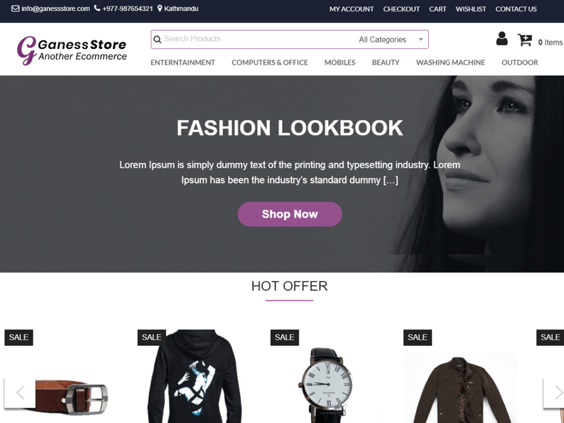 Ganess Store Theme Free Download