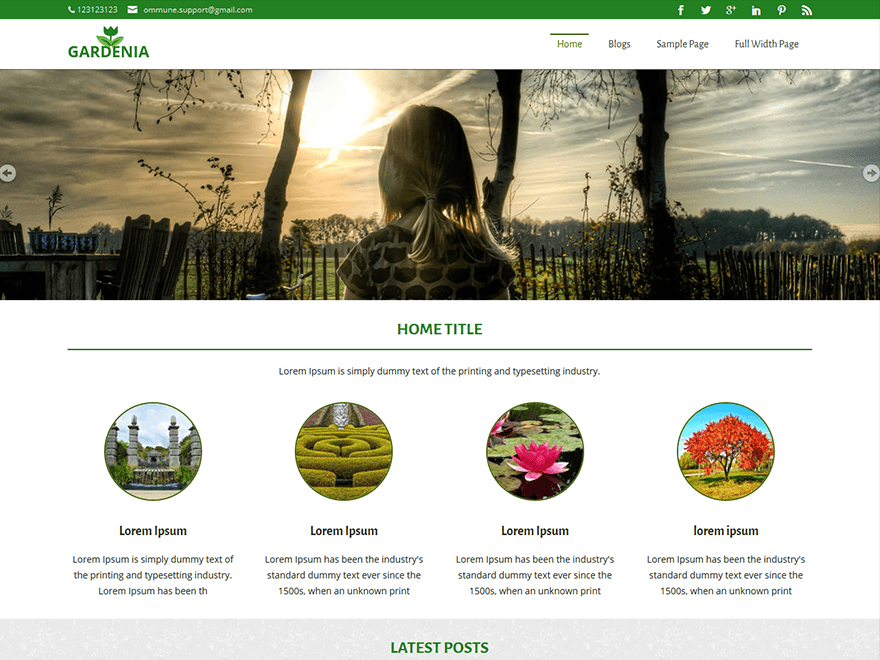 Gardenia free wordpress theme