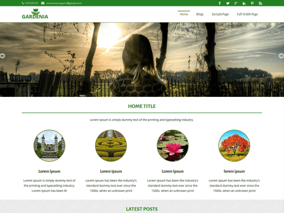 Gardenia wordpress theme