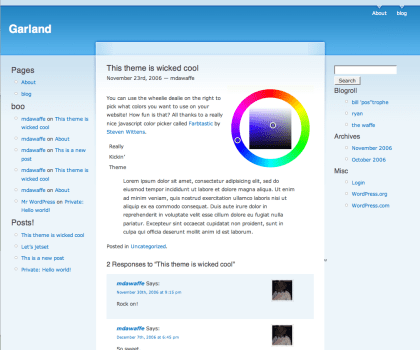 Garland-revisited free wordpress theme