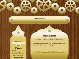 Gears and Wood wordpress theme
