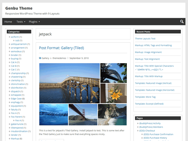 Genbu free wordpress theme