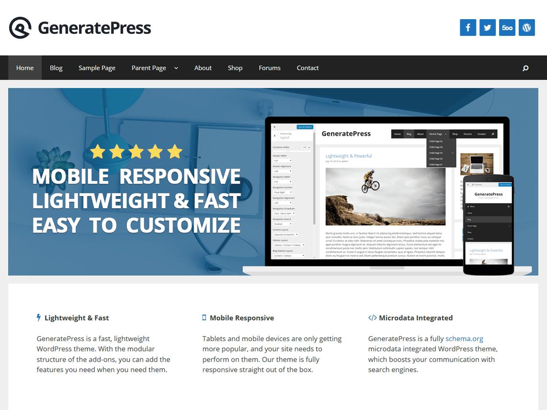 GeneratePress — Temas WordPress gratuitos