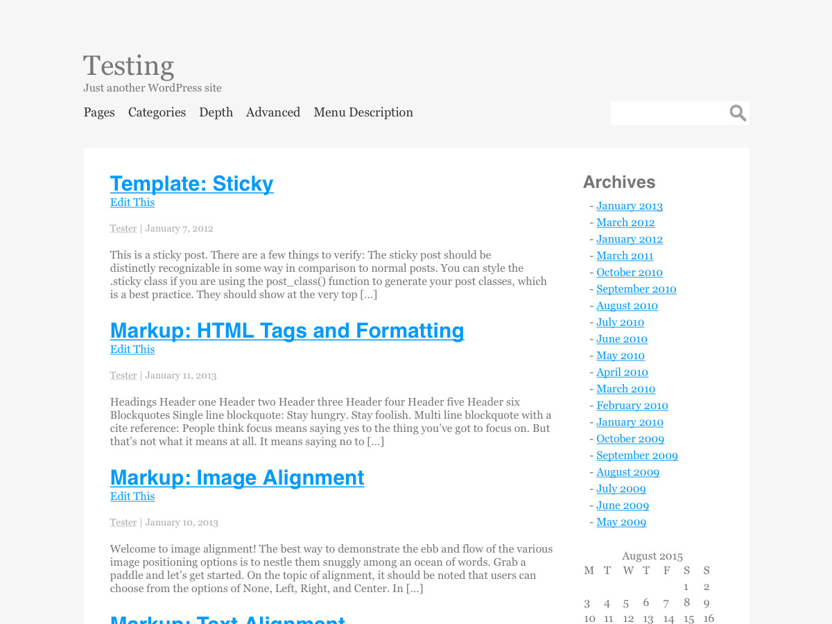 Generic free wordpress theme