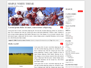 GGSimpleWhite free wordpress theme