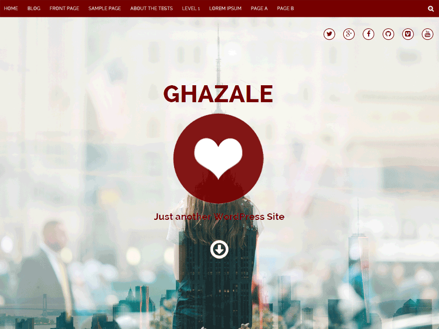 Ghazale free wordpress theme