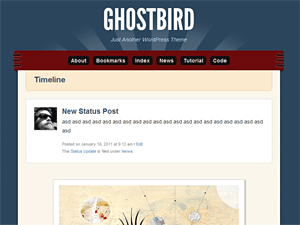 Ghostbird free wordpress theme
