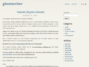 Ghostwriter free wordpress theme