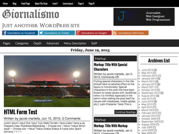 Giornalismo wordpress theme