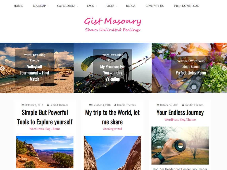 Gist Masonry wordpress theme download - aovoz.com