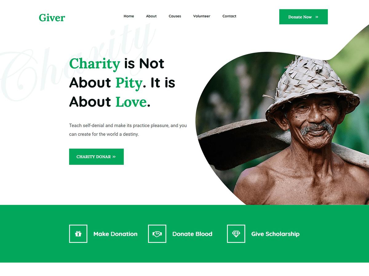 Giver Free WordPress Charity Theme