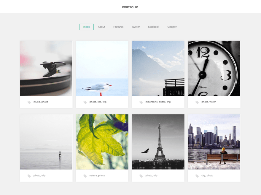 GK Portfolio Theme Free Download