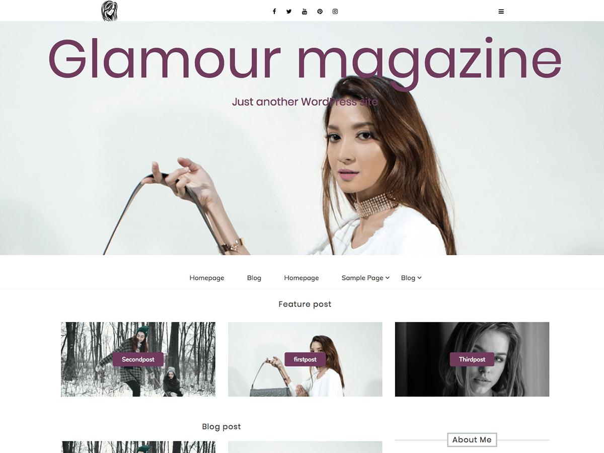 WordPress主题:Glamour magazine