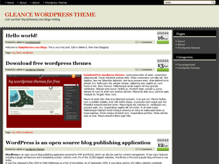 Gleance wordpress theme