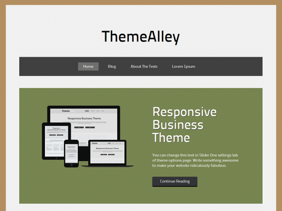 Goa wordpress theme