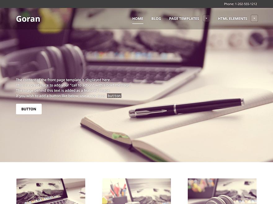 Goran free wordpress theme