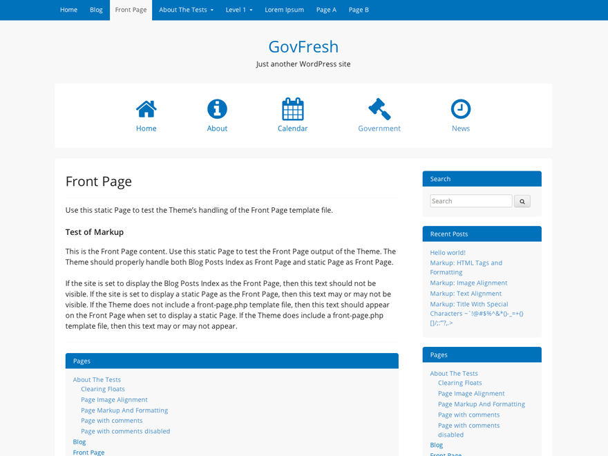 GovPress free wordpress theme