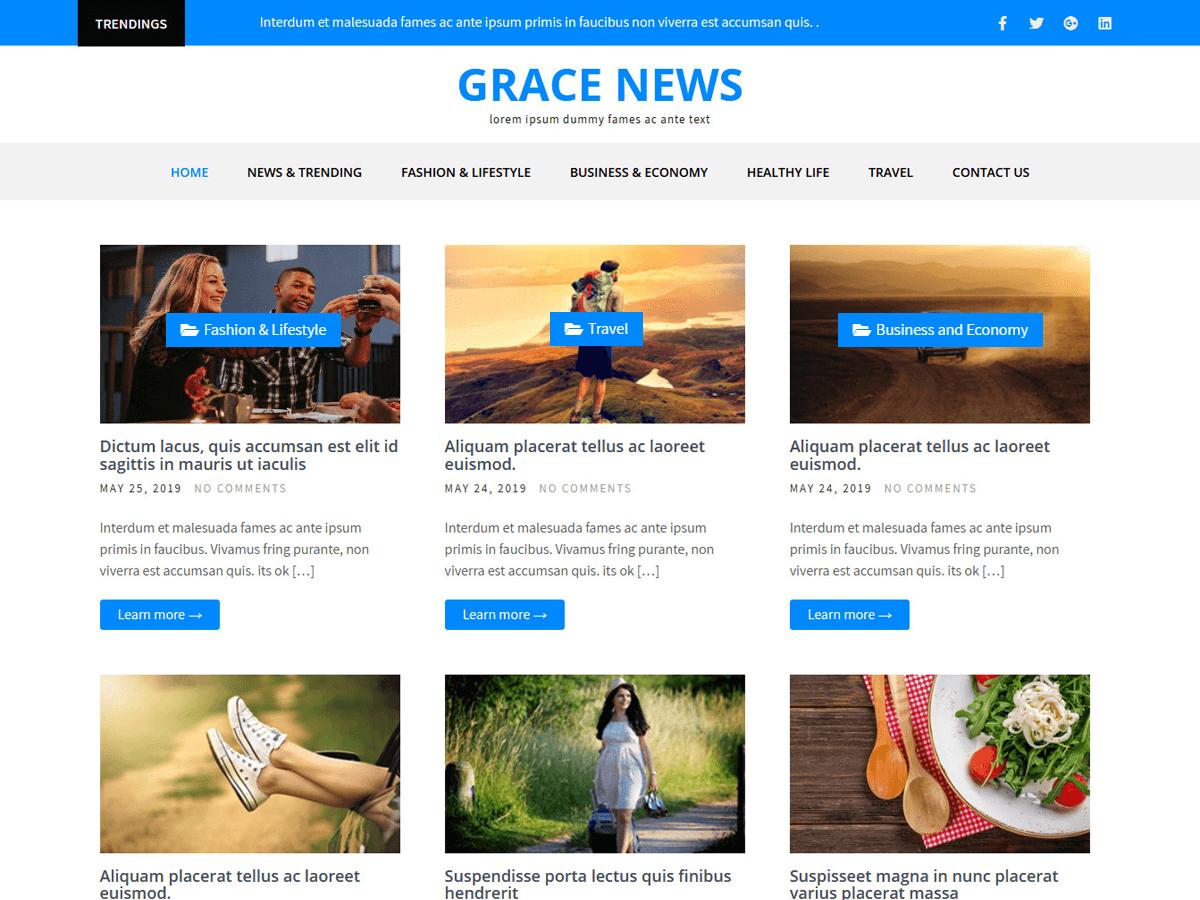 WordPress主题:Grace News
