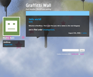 Graffitti Wall free wordpress theme
