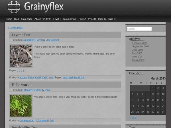 grainyflex free wordpress theme