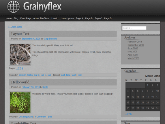 grainyflex wordpress theme