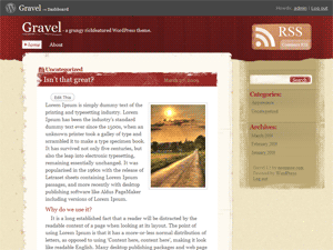 Gravel free wordpress theme