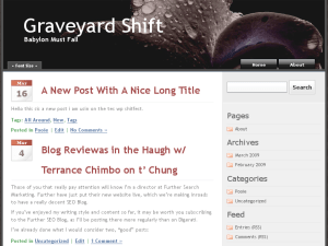Graveyard Shift free wordpress theme