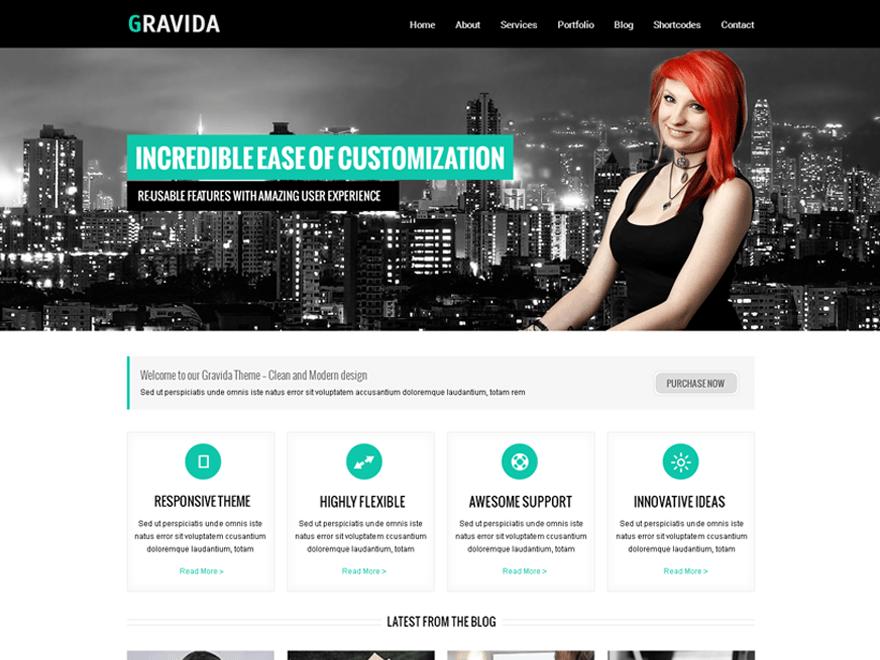 Gravida free wordpress theme