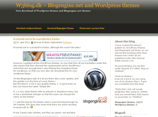 Gray and gold wordpress theme