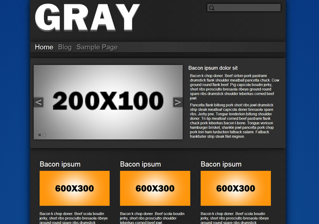 Gray - Base Plate free wordpress theme