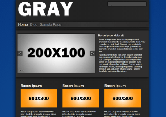 Gray - Base Plate wordpress theme