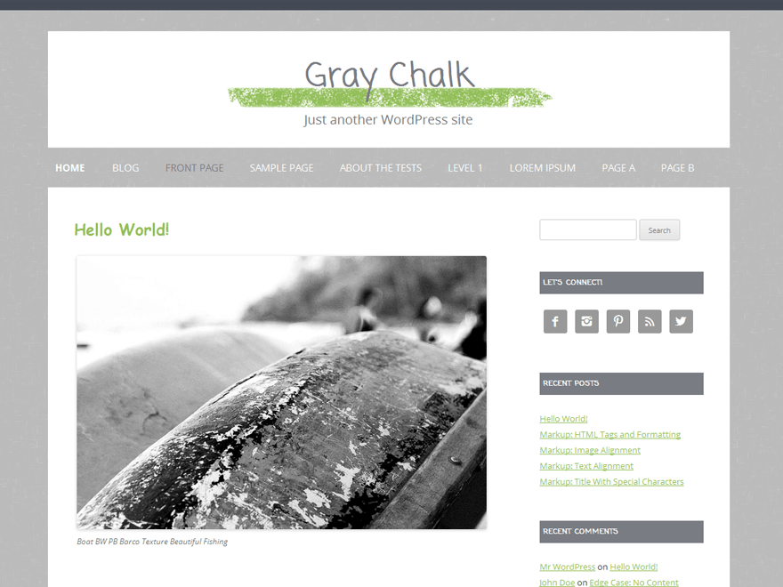 Gray Chalk free wordpress theme