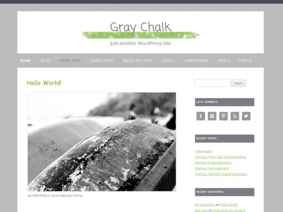 Gray Chalk wordpress theme