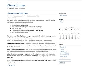 Gray Lines free wordpress theme