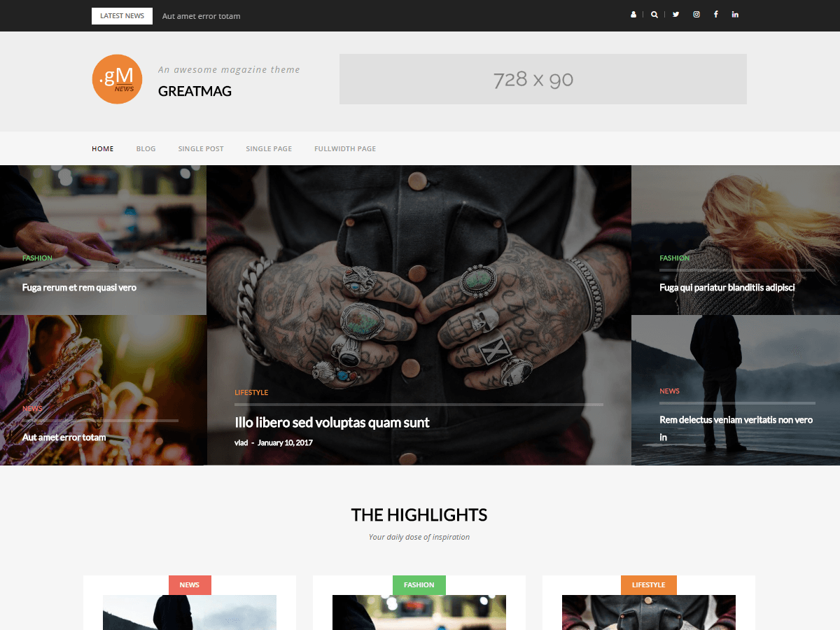 GreatMag Magazine Free WordPress Theme