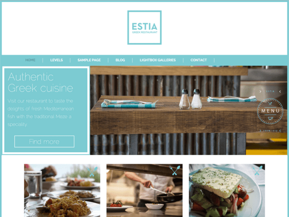 Greek Restaurant wordpress theme