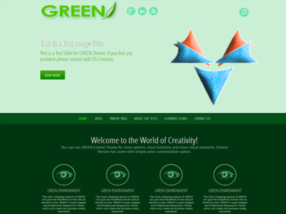 GREEN EYE wordpress theme