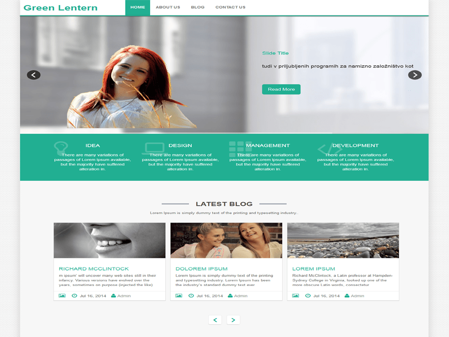 Green-Lantern free wordpress theme